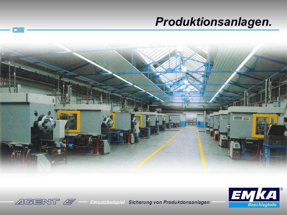Produktionsanlagen. Einsatzbeispiel Sicherung von Produktionsanlagen