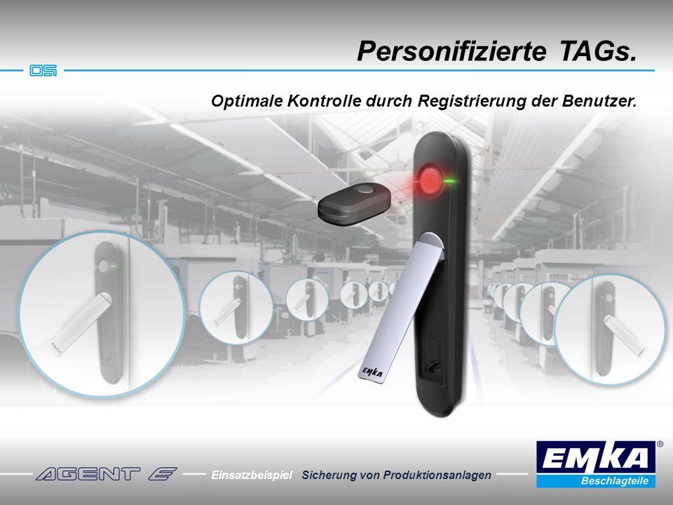 Personifizierte TAGs. Optimale Kontrolle durch Registrierung der Benutzer.