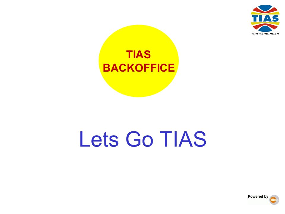 Lets Go TIAS TIAS BACKOFFICE