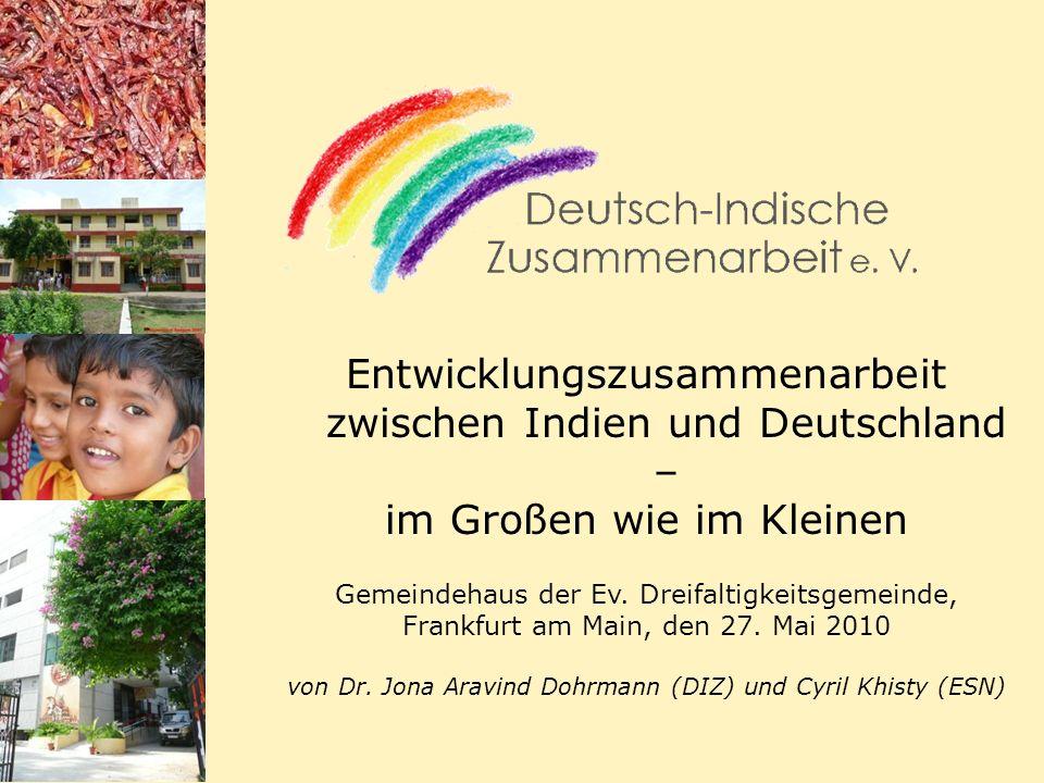 14.11.2013 22 Deutsch-indische Entwicklungszusammenarbeit Gesundheit Bekämpfung von Krankheiten mit besonders negativen Auswirkungen auf die Produktivität (extrem) Armer und Benachteiligter (z.B.