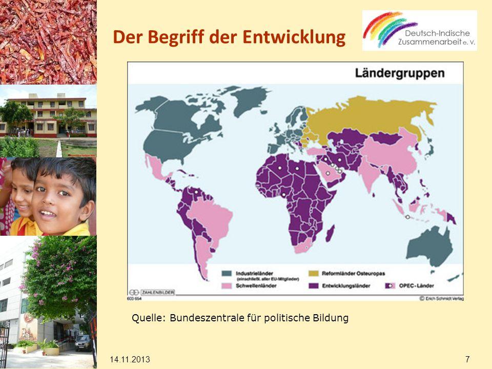 14.11.2013 18 Deutsch-indische Entwicklungszusammenarbeit