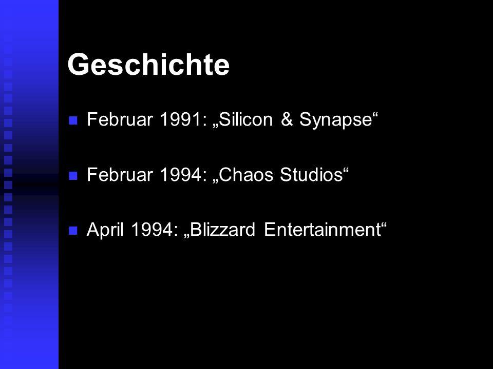 Geschichte Februar 1991: Silicon & Synapse Februar 1991: Silicon & Synapse Februar 1994: Chaos Studios Februar 1994: Chaos Studios April 1994: Blizzar