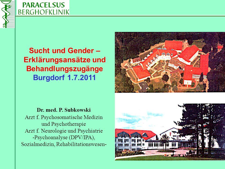 Dr. med. P. Subkowski Arzt f. Psychosomatische Medizin und Psychotherapie Arzt f. Neurologie und Psychiatrie -Psychoanalyse (DPV/IPA), Sozialmedizin,