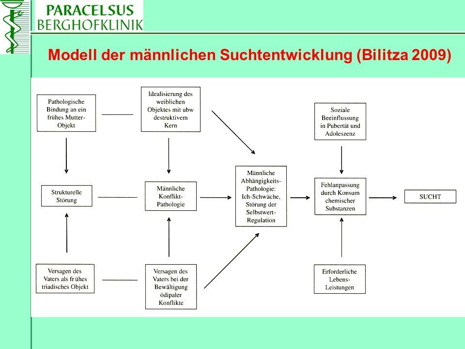 Modell der männlichen Suchtentwicklung (Bilitza 2009)