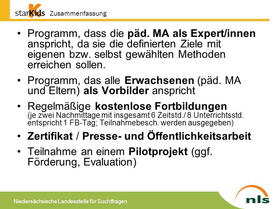 Niedersächsische Landesstelle für Suchtfragen Ausgangslage und Fakten In Deutschland leben: 2.65 Millionen Kinder, bei denen ein Elternteil eine alkoholbezogene Störung (Missbrauch oder Abhängigkeit) aufweist (Lachner & Wittchen, 1997; Klein, 2005) ca.