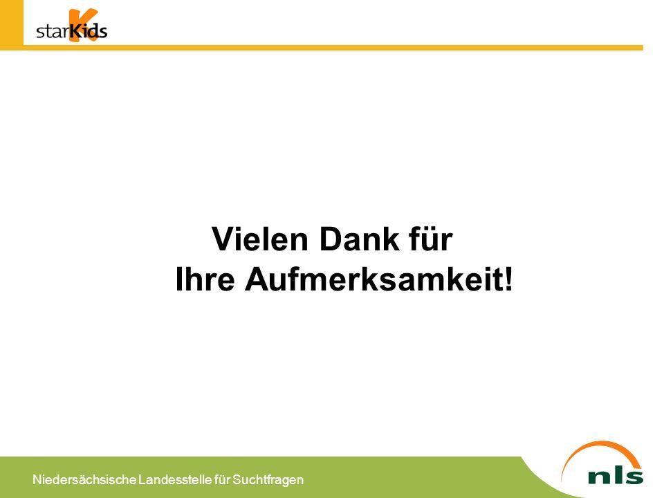 Niedersächsische Landesstelle für Suchtfragen Vielen Dank für Ihre Aufmerksamkeit!