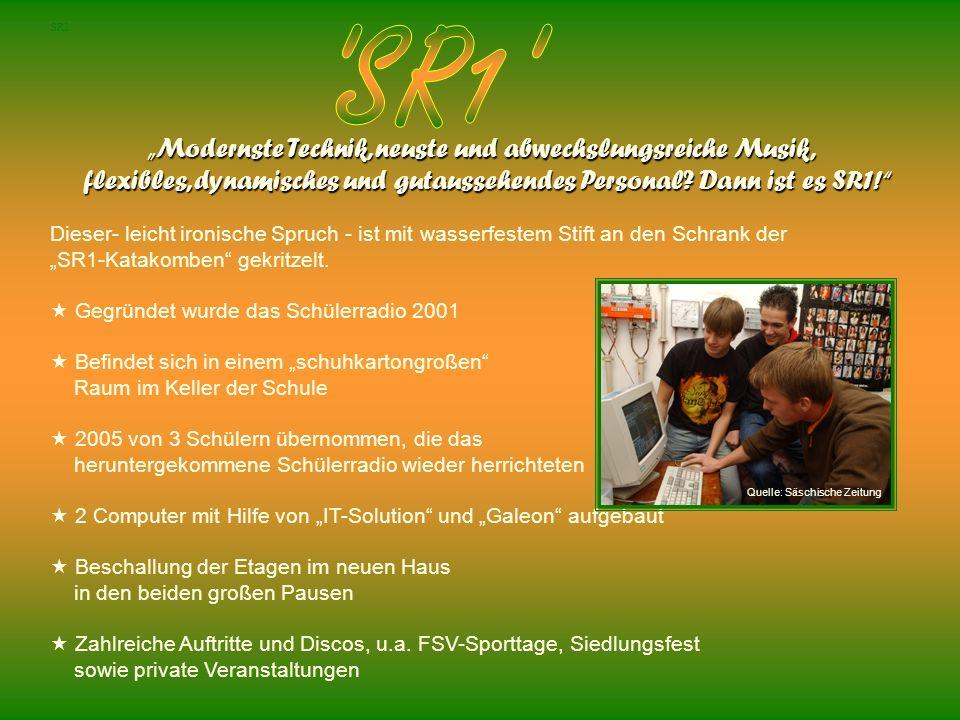SR1 Modernste Technik, neuste und abwechslungsreiche Musik, flexibles, dynamisches und gutaussehendes Personal? Dann ist es SR1! flexibles, dynamische