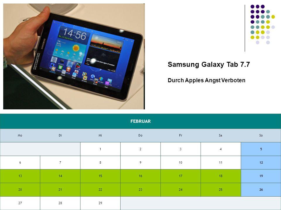 Samsung Galaxy Tab 7.7 Gegen das Samsung Galaxy Tab 7.7 sieht das rund ein Jahr alte Galaxy Tab alt aus – das neue Tablet hat ein größeres Display, eine höhere Auflösung, bietet mehr Leistung und ist trotzdem leichter.