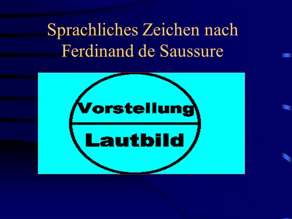 Sprachliches Zeichen nach Ferdinand de Saussure