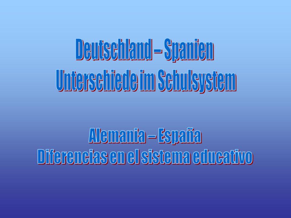 Schulsystem in Deutschland Sistema educativo en Alemania Grundschule: 1.