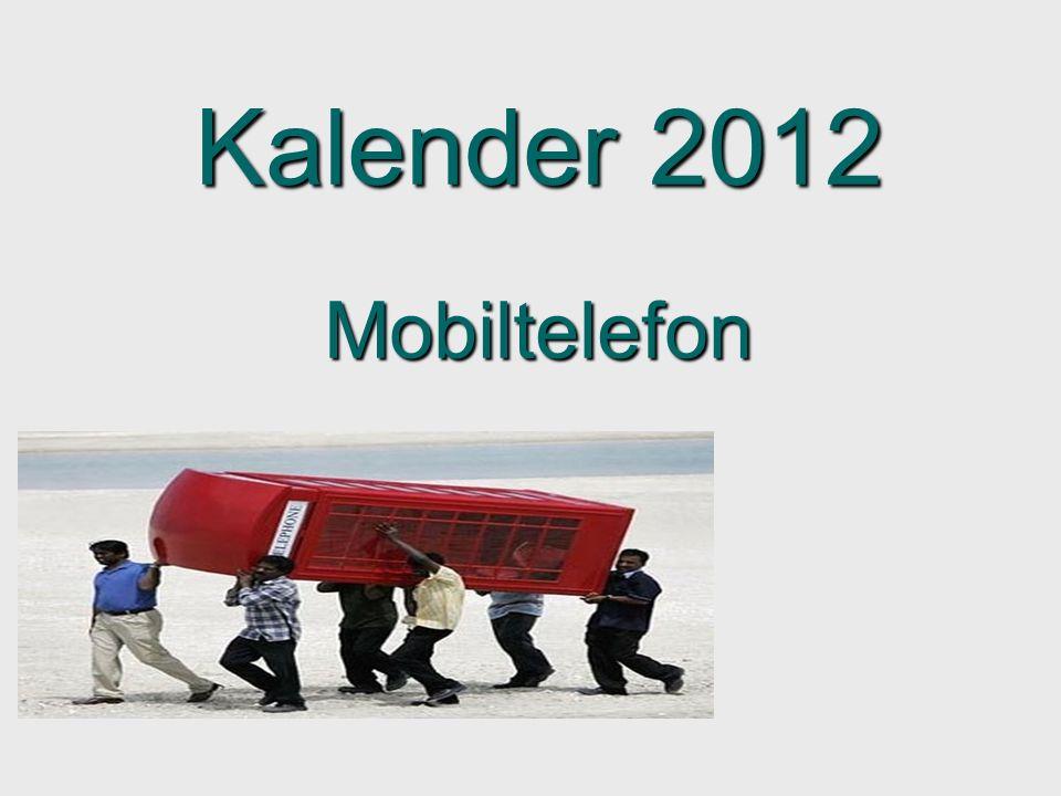 Kalender 2012 Mobiltelefon