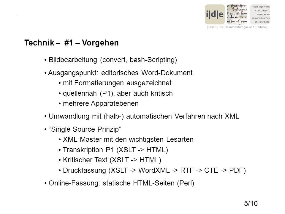 Technik – #1 – Vorgehen Bildbearbeitung (convert, bash-Scripting) Ausgangspunkt: editorisches Word-Dokument mit Formatierungen ausgezeichnet quellenna
