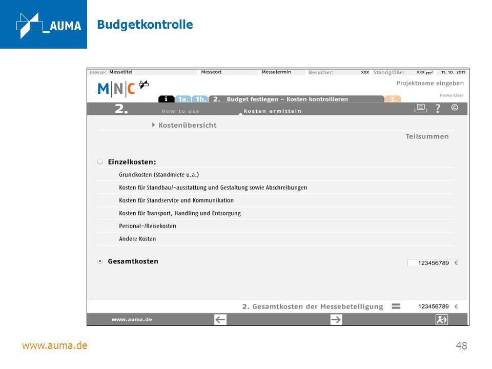 www.auma.de 48 Budgetkontrolle