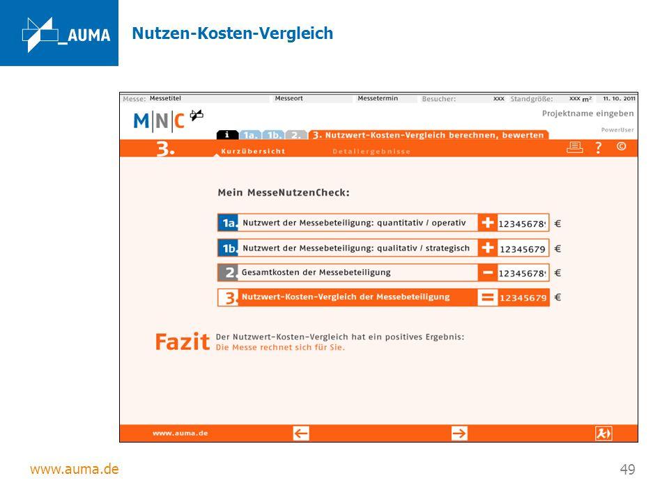 www.auma.de 49 Nutzen-Kosten-Vergleich