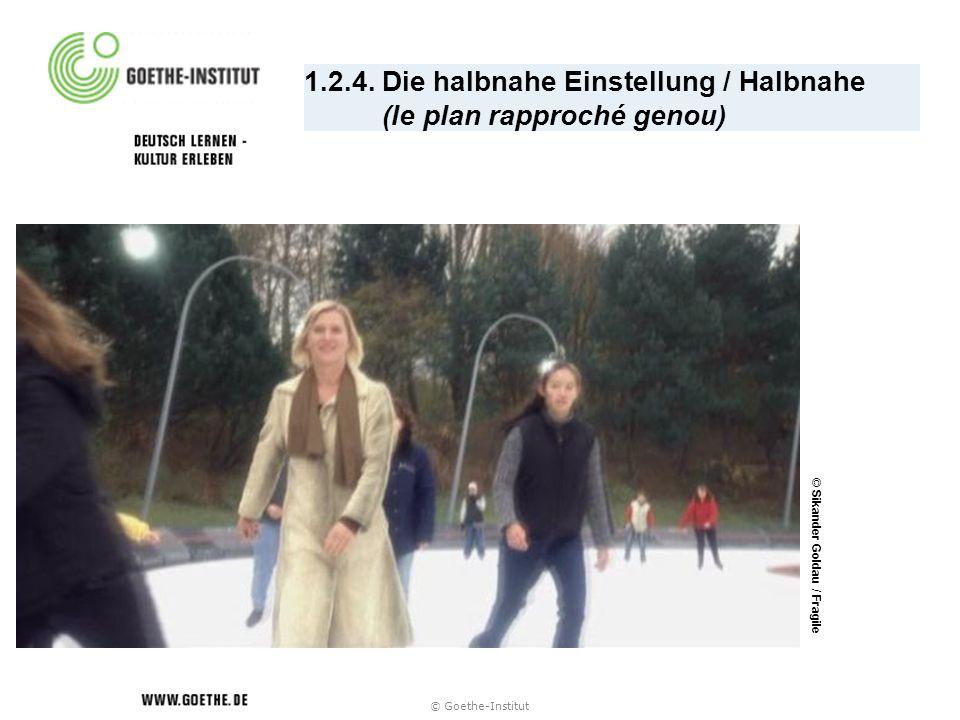 1.2.4. Die halbnahe Einstellung / Halbnahe (le plan rapproché genou) © Sikander Goldau / Fragile © Goethe-Institut