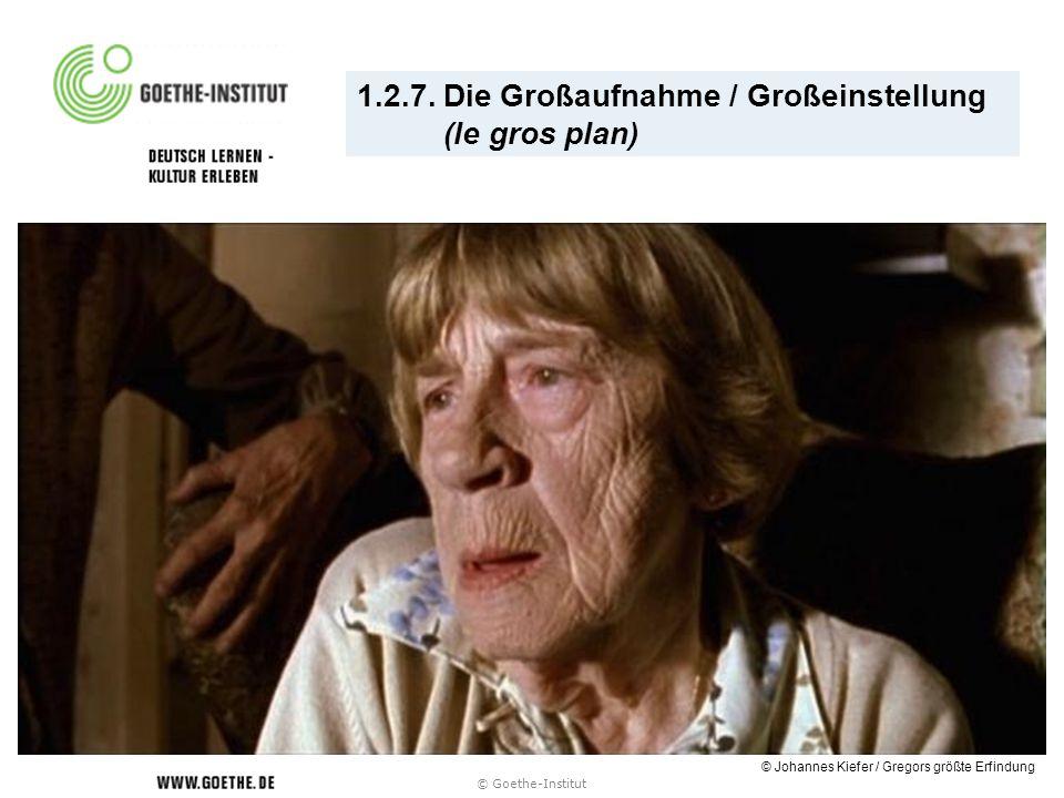 1.2.7. Die Großaufnahme / Großeinstellung (le gros plan) © Goethe-Institut © Johannes Kiefer / Gregors größte Erfindung