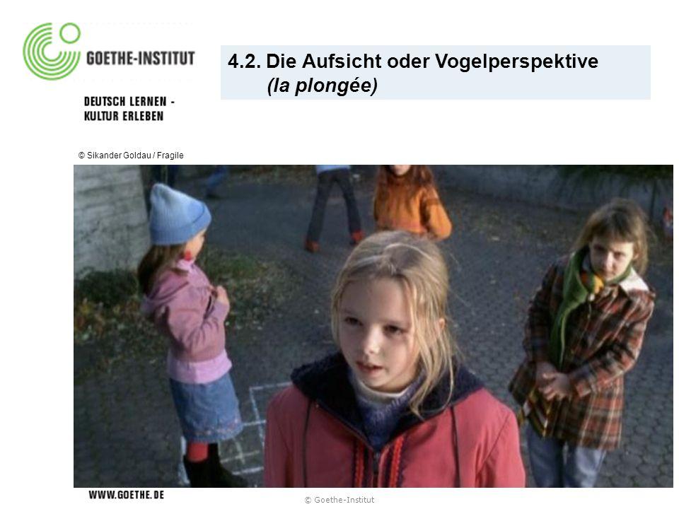 © Goethe-Institut 4.2. Die Aufsicht oder Vogelperspektive (la plongée) © Sikander Goldau / Fragile