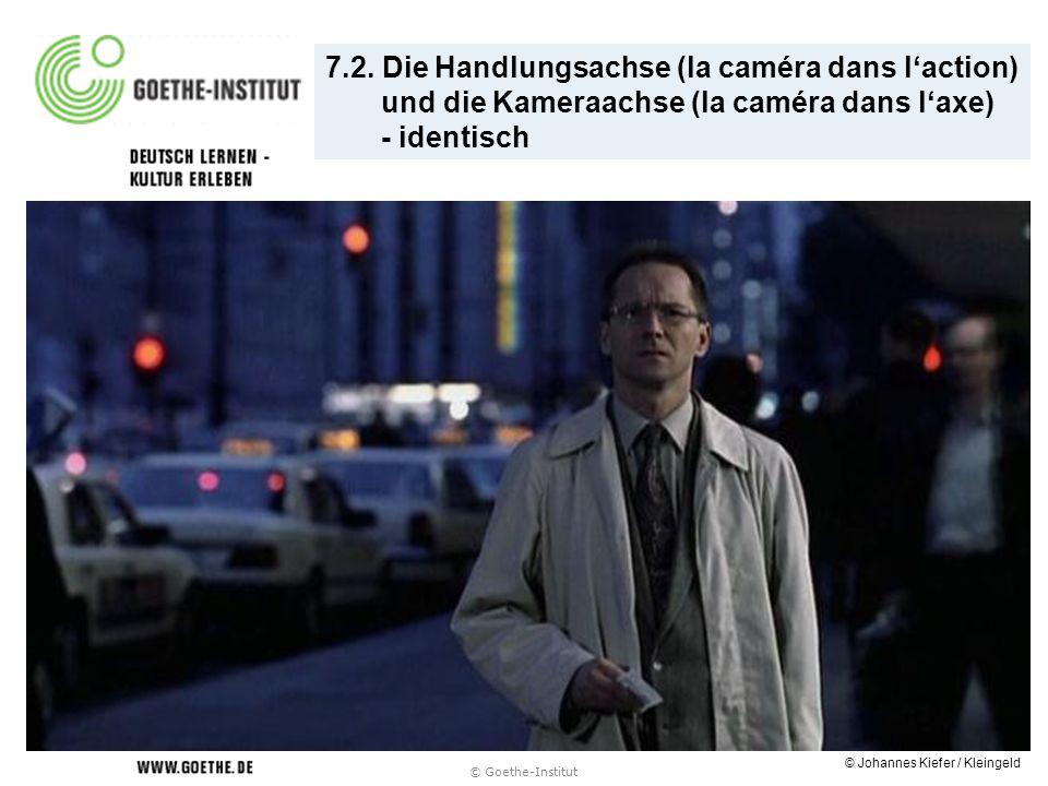 © Goethe-Institut 7.2. Die Handlungsachse (la caméra dans laction) und die Kameraachse (la caméra dans laxe) - identisch © Johannes Kiefer / Kleingeld
