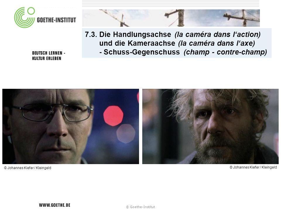 7.3. Die Handlungsachse (la caméra dans laction) und die Kameraachse (la caméra dans laxe) - Schuss-Gegenschuss (champ - contre-champ) © Johannes Kief