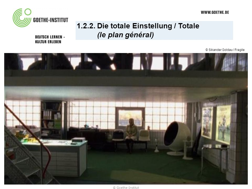 1.2.2. Die totale Einstellung / Totale (le plan général) © Sikander Goldau / Fragile