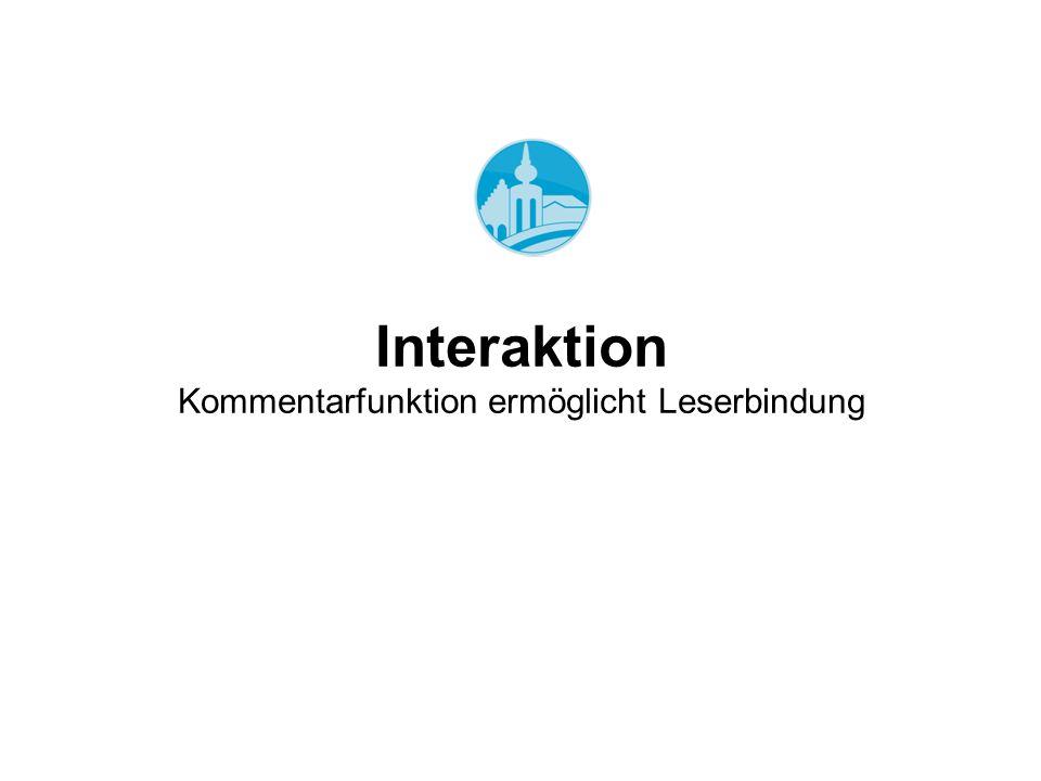 Interaktion Kommentarfunktion ermöglicht Leserbindung