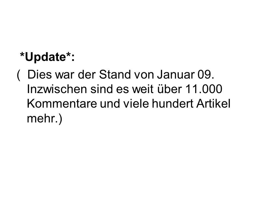*Update*: ( Dies war der Stand von Januar 09.