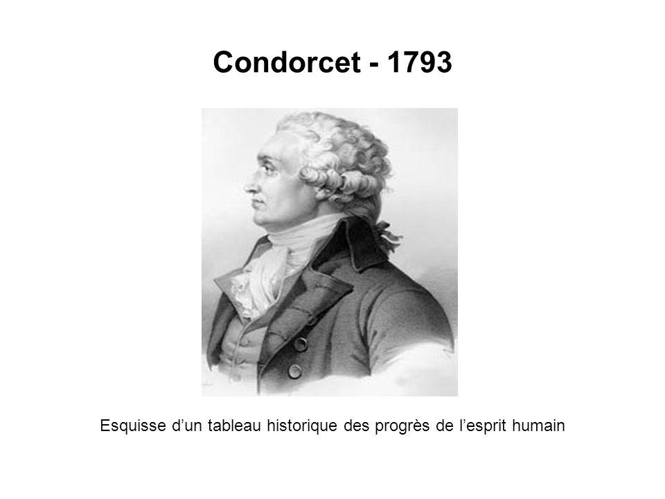 Condorcet - 1793 Esquisse dun tableau historique des progrès de lesprit humain