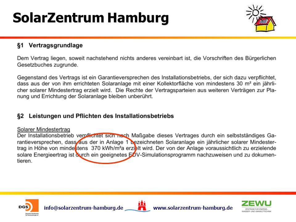 info@solarzentrum-hamburg.de www.solarzentrum-hamburg.de SolarZentrum Hamburg Hufnerstr.
