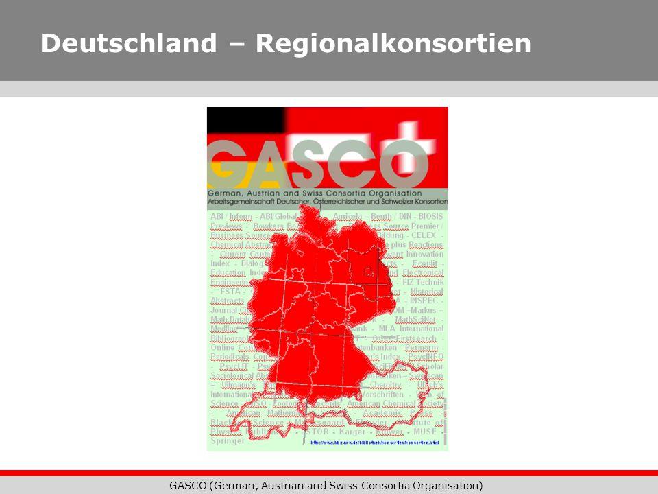 GASCO (German, Austrian and Swiss Consortia Organisation) Deutschland – Regionalkonsortien