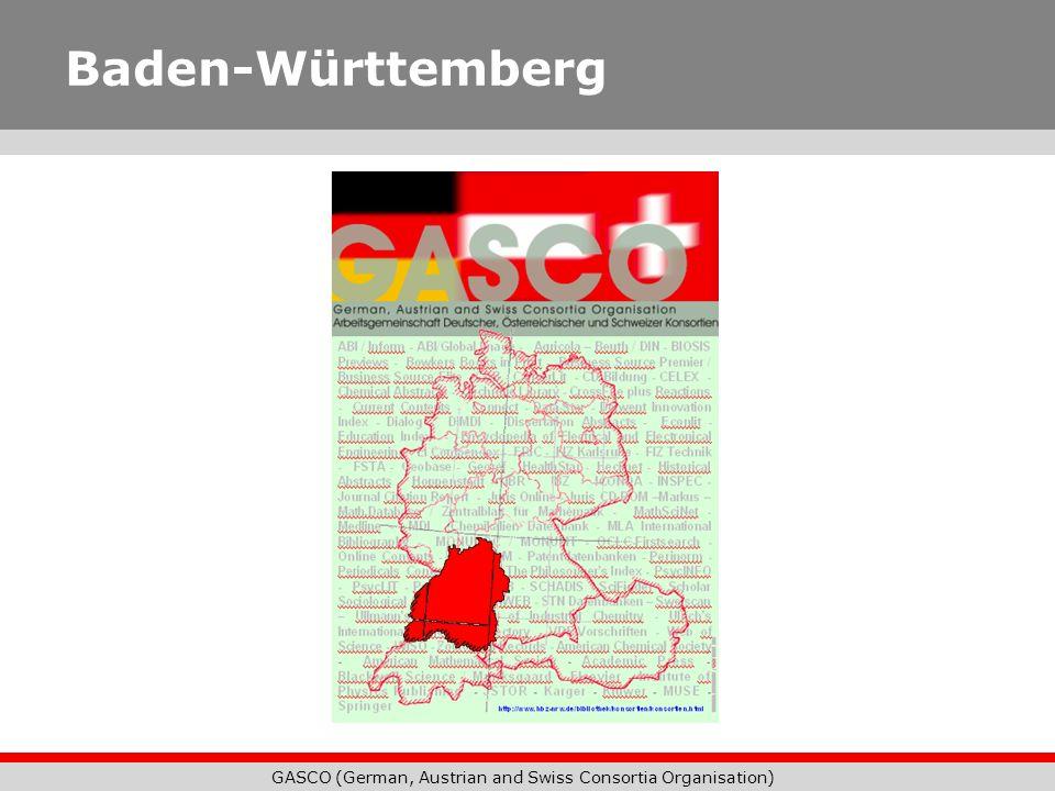 GASCO (German, Austrian and Swiss Consortia Organisation) Baden-Württemberg
