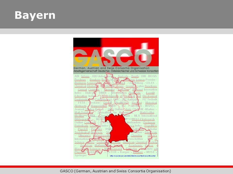GASCO (German, Austrian and Swiss Consortia Organisation) Bayern