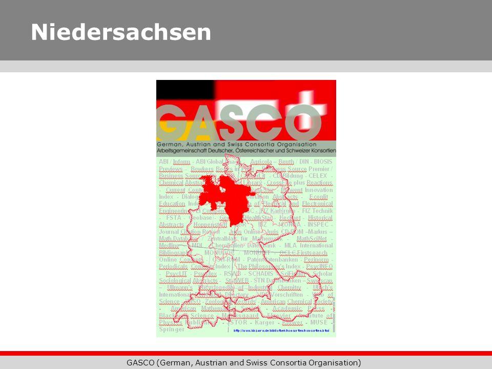 GASCO (German, Austrian and Swiss Consortia Organisation) Niedersachsen