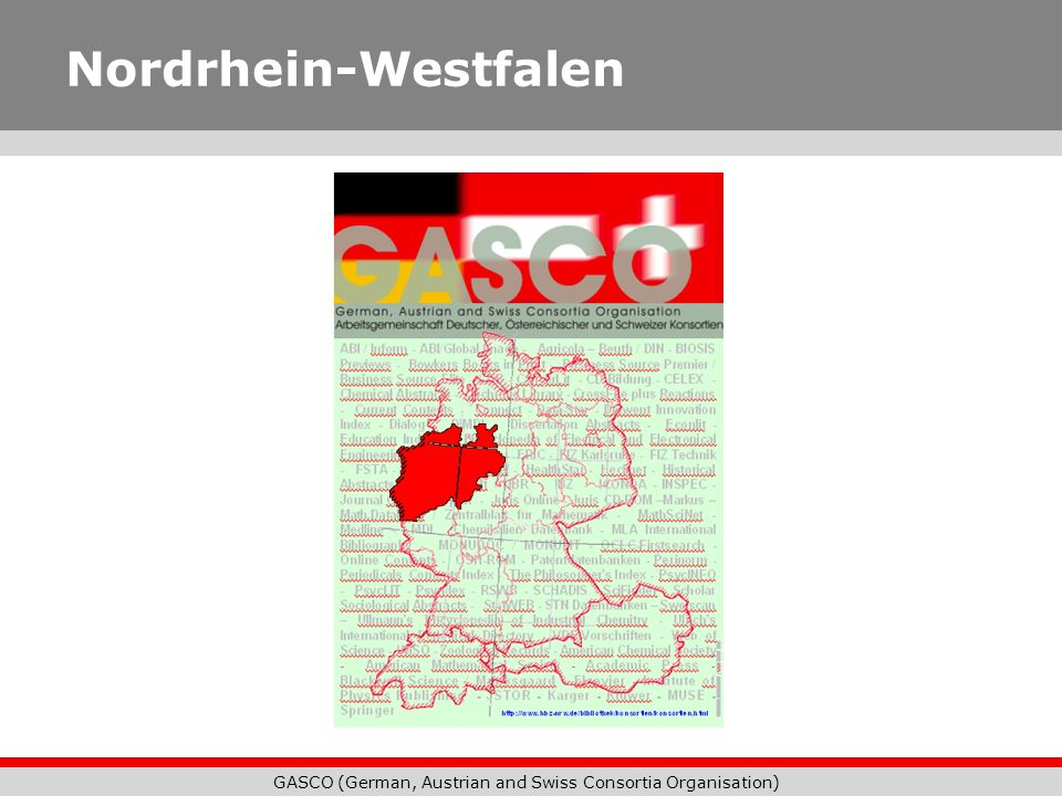 GASCO (German, Austrian and Swiss Consortia Organisation) Nordrhein-Westfalen