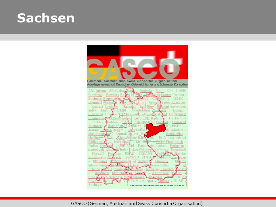 GASCO (German, Austrian and Swiss Consortia Organisation) Sachsen