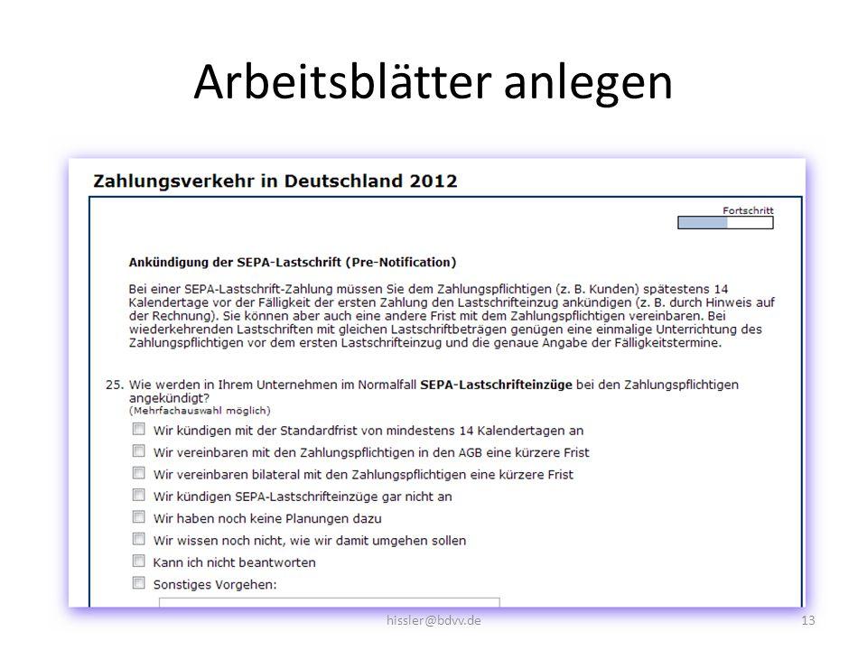 Arbeitsblätter anlegen 13hissler@bdvv.de