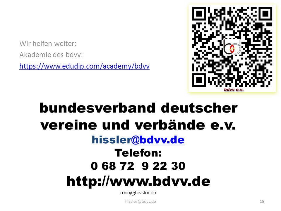bundesverband deutscher vereine und verbände e.v.