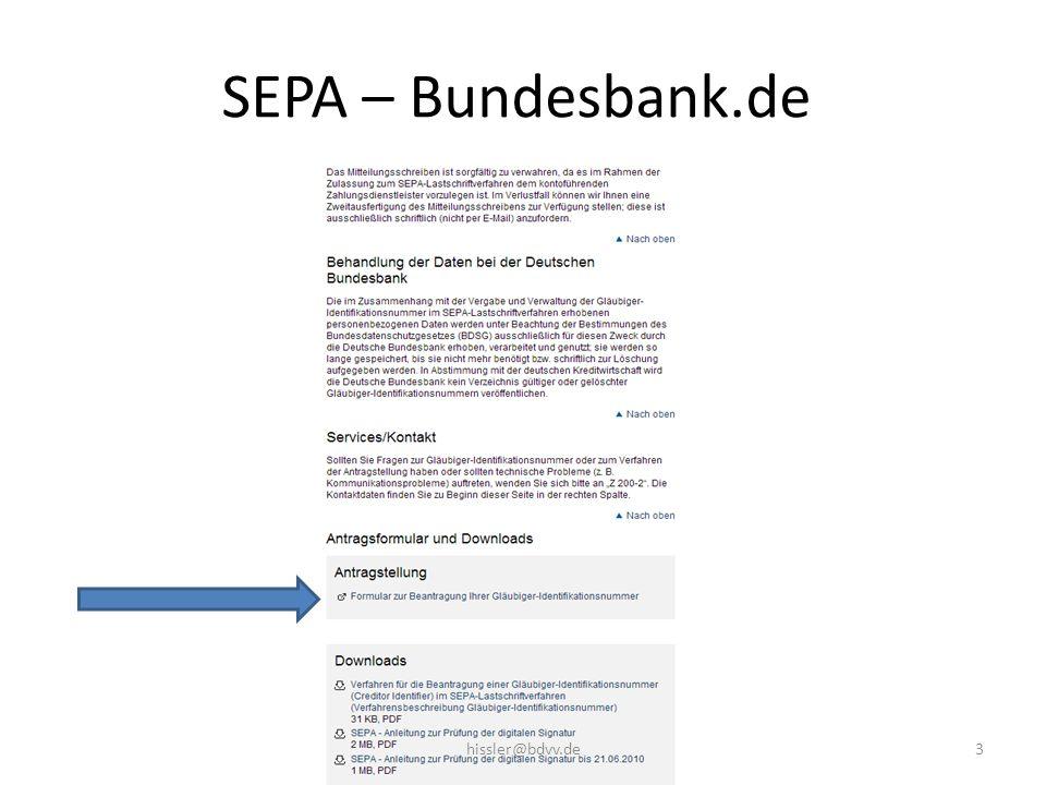 SEPA – Bundesbank.de 3hissler@bdvv.de