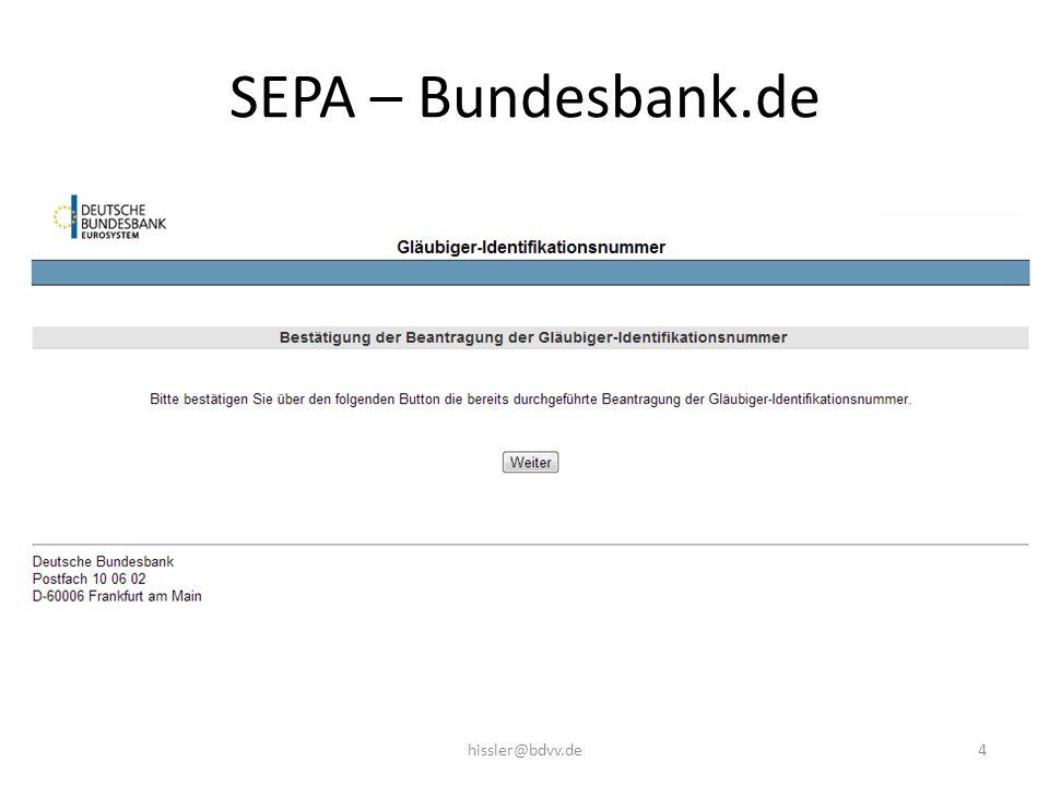 SEPA – Bundesbank.de 4hissler@bdvv.de