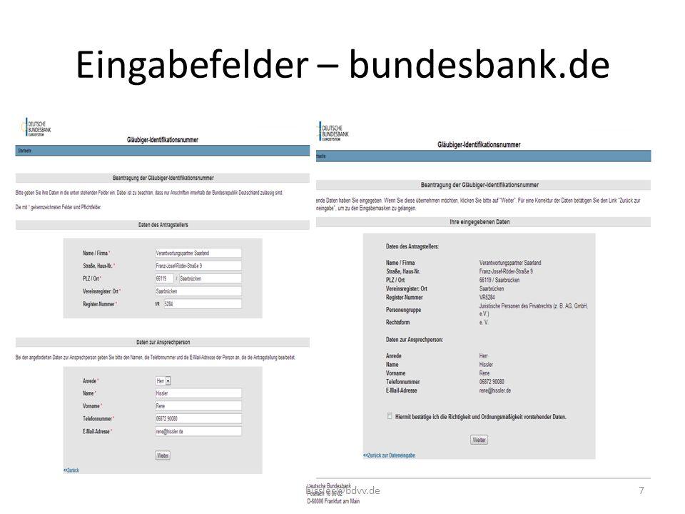 Eingabefelder – bundesbank.de 7hissler@bdvv.de