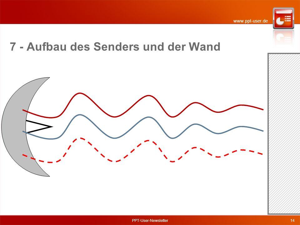 www.ppt-user.de PPT-User-Newsletter14 7 - Aufbau des Senders und der Wand