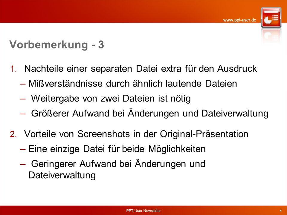 www.ppt-user.de Vorbemerkung - 3 1.
