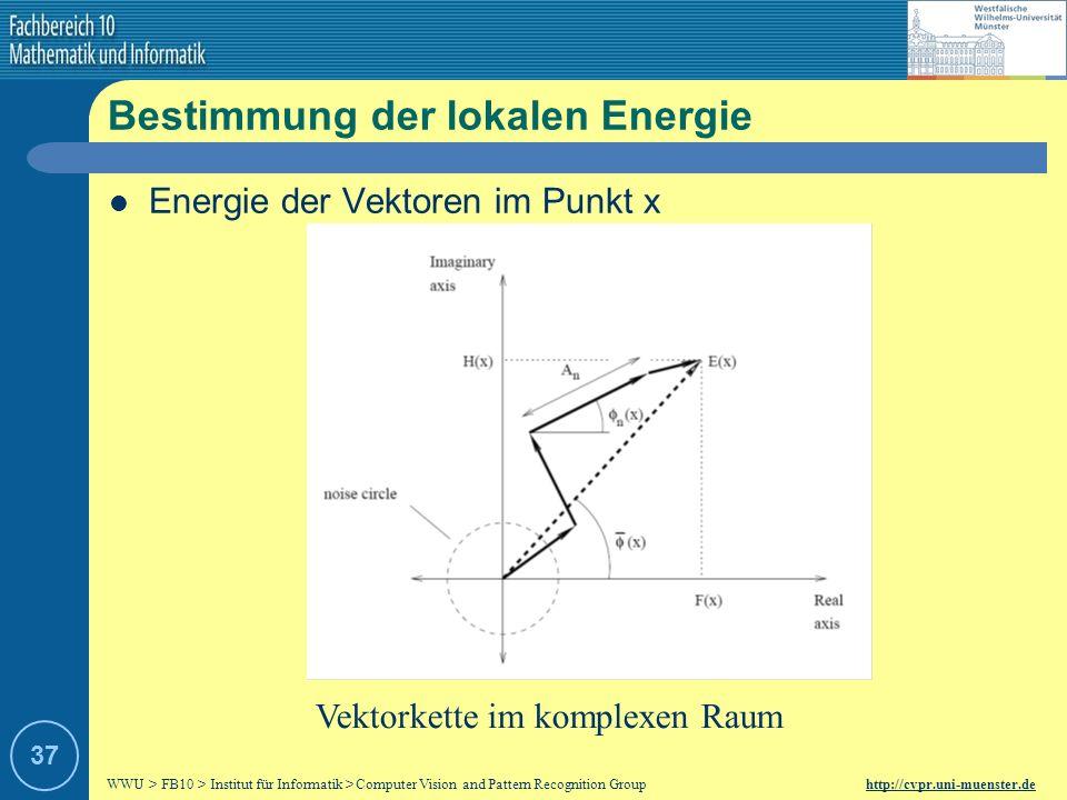 WWU > FB10 > Institut für Informatik > Computer Vision and Pattern Recognition Group http://cvpr.uni-muenster.de 36 Phasenkongruenz ( Deckungsgleichhe