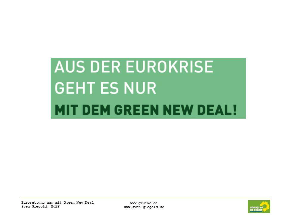 Eurorettung nur mit Green New Deal Sven Giegold, MdEP www.gruene.de www.sven-giegold.de
