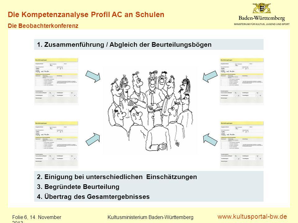www.kultusportal-bw.de Kultusministerium Baden-Württemberg Folie 7, 14.