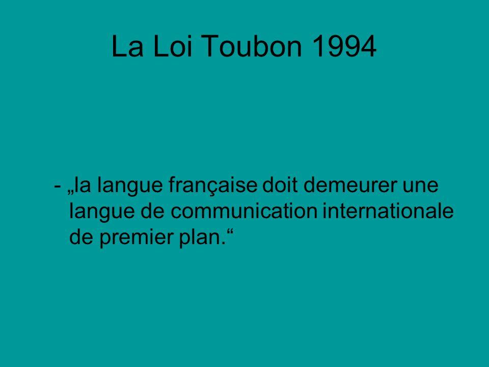 Reaktionen auf Gesetzesentwürfe Umfrage per Telefon durch Globe Hebdo: Nur 3% der Befragten glaubten ihre Sprache (mündl.