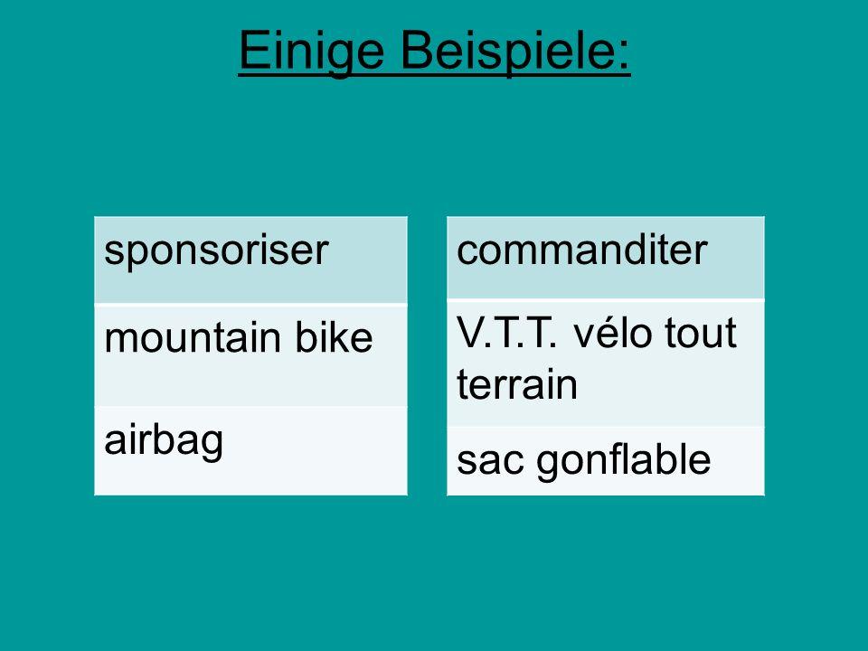 Einige Beispiele: sponsoriser mountain bike airbag commanditer V.T.T. vélo tout terrain sac gonflable