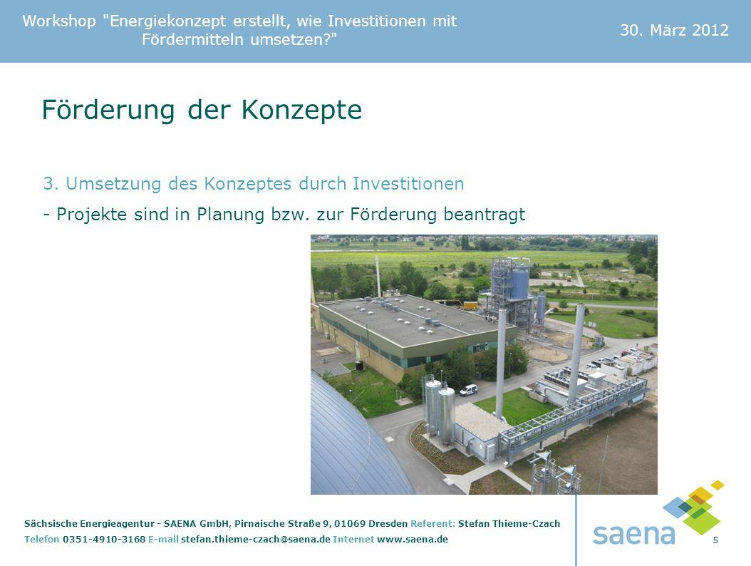 Workshop Energiekonzept erstellt, wie Investitionen mit Fördermitteln umsetzen? 30.