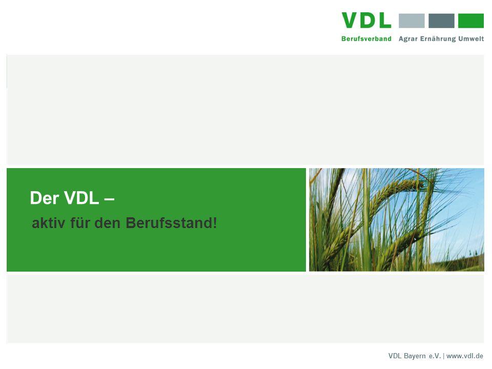 VDL Bayern e.V. | www.vdl.de Der VDL – aktiv für den Berufsstand!