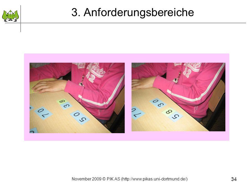3. Anforderungsbereiche November 2009 © PIK AS (http://www.pikas.uni-dortmund.de/) 34