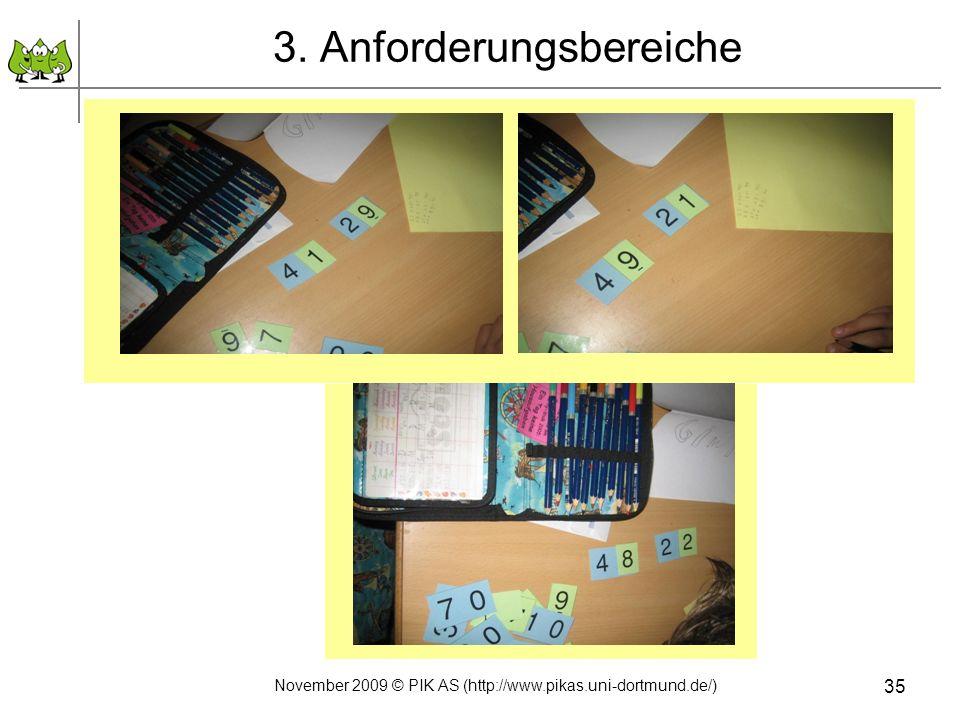 3. Anforderungsbereiche November 2009 © PIK AS (http://www.pikas.uni-dortmund.de/) 35
